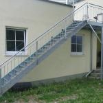 Außentreppe mit Podest